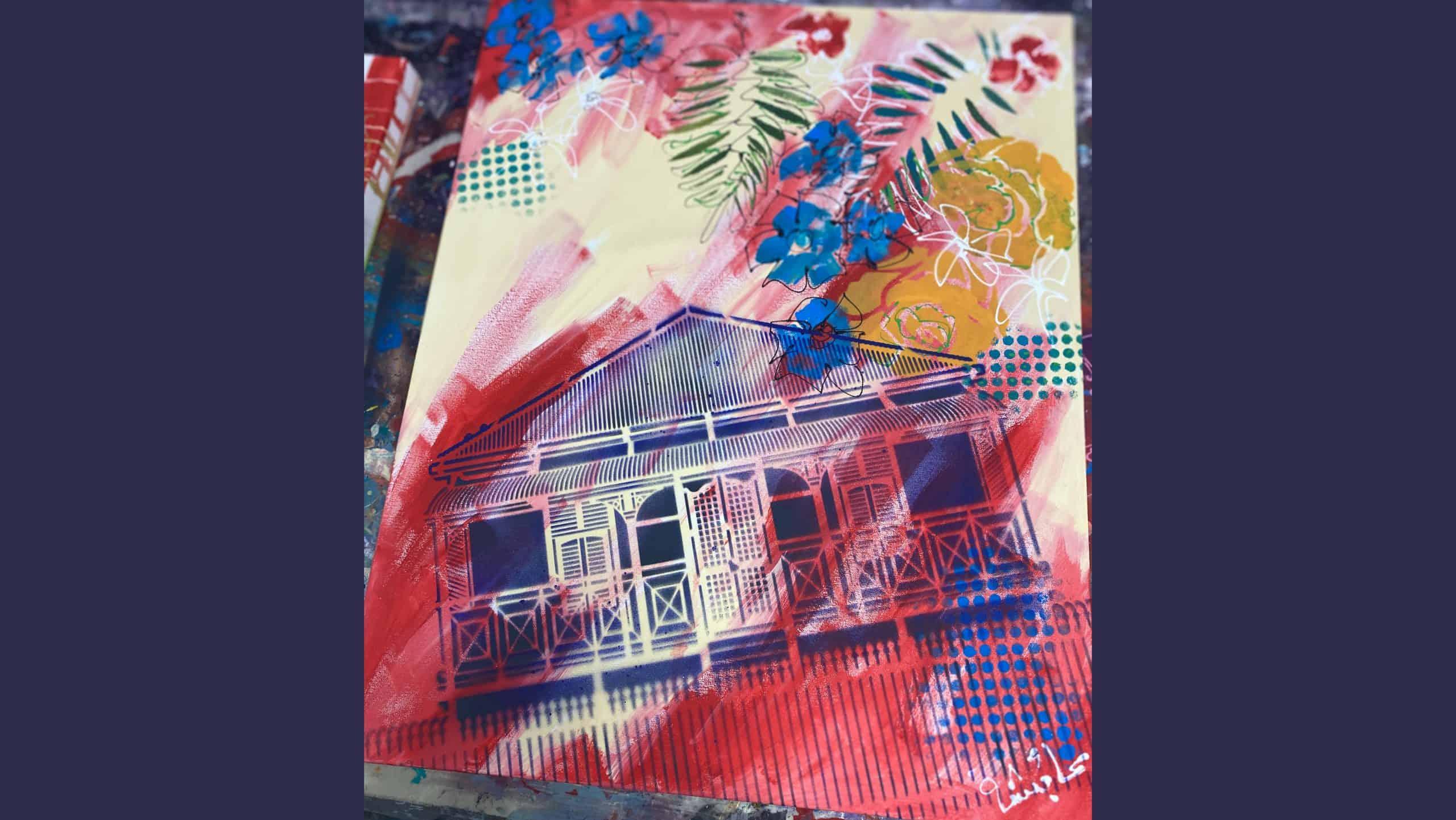 queenslander house stencil